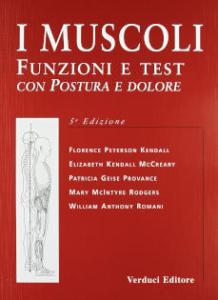 I muscoli. Funzioni e test con postura e dolore di F. Kendall